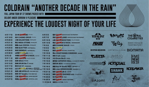 corldrain「ANOTHER DECADE IN THE RAIN TOUR 2018」