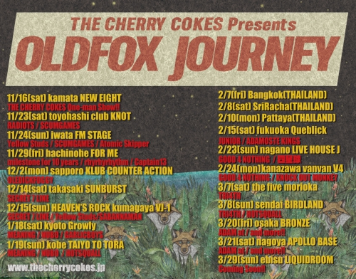THE CHERRY COKE$ presents【OLDFOX JOURNEY】出演決定